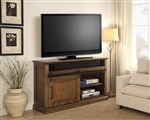Hunts Point 55 Inch TV Console with Sliding Doors in Vintage Weathered Pine Finish by Parker House - HPT-55