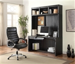 Hudson 63 Inch In-Wall Desk with Power Center and Hutch in Vintage Midnight Finish by Parker House - HUD-915-2
