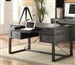 Hudson 60 Inch Writing Desk with Power Center in Vintage Midnight Finish by Parker House - HUD-985