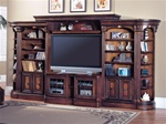Huntington 6 Piece Entertainment Wall Unit in Chestnut Finish by Parker House - HUN-415-6