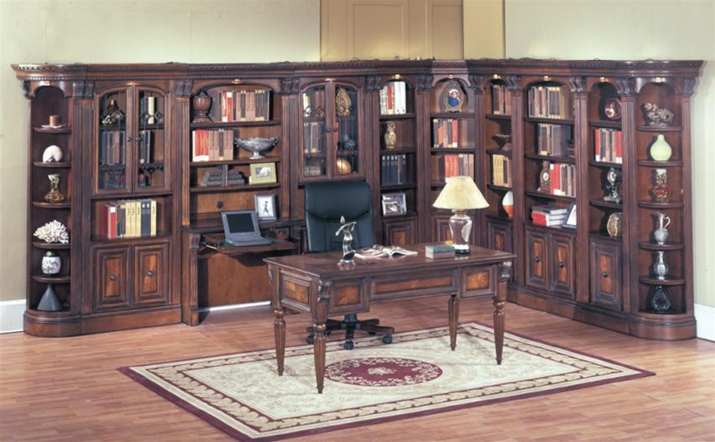 Huntington 11 Piece Library Wall In Chestnut Finish By Parker House Hun 420