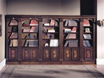 Huntington 5 Piece Inset Bookcase Wall in Chestnut Finish by Parker House - HUN-420-5