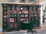Huntington 6 Piece Large Library Wall with Desk in Chestnut Finish by Parker House - HUN-460-2-6