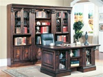 Huntington 4 Piece Executive Home Office Set in Chestnut Finish by Parker House - HUN-480-3-4