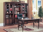 Huntington 4 Piece Executive Home Office Set in Chestnut Finish by Parker House - HUN-485-4