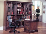 Huntington 5 Piece Peninsula Desk Wall Unit in Chestnut Finish by Parker House - HUN-490-2-5