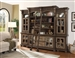Laredo 5 Piece Entertainment Wall with Shelves in Vintage Hickory Finish by Parker House - LAR-680-5
