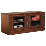 Leonardo 60-Inch TV Console in Antique Vintage Dark Chestnut Finish by Parker House - LEO-412