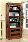 Leonardo 2 Piece Lateral File and Hutch in Antique Vintage Dark Chestnut Finish by Parker House - LEO-476-2