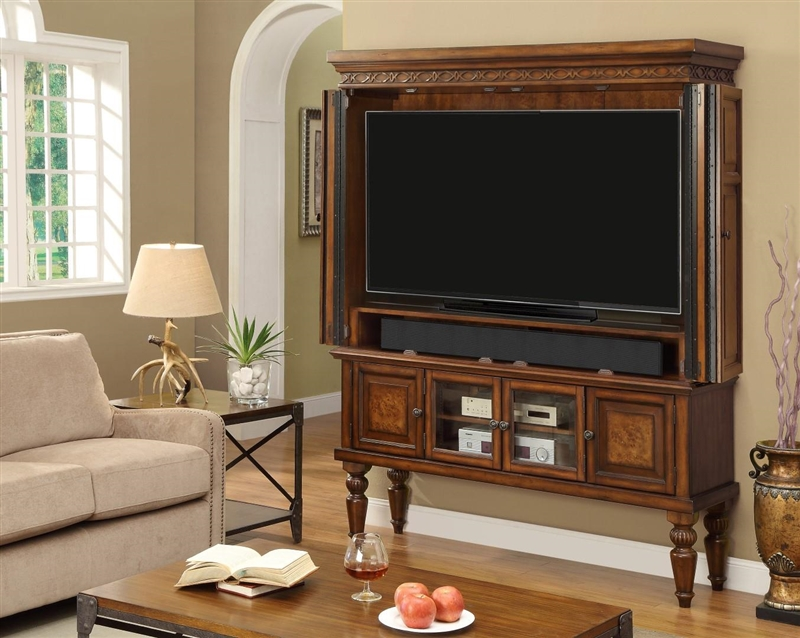 60 Inch 2 Piece Entertainment Armoire