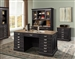 Lincoln Park 4 Piece Home Office Set in Vintage Ash Finish by Parker House - LIN-4ED
