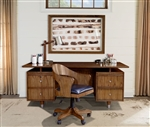 Madison Executive Desk in Burnished Amber Finish by Parker House - MAD-380-2
