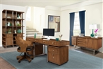 Madison 6 Piece Home Office Set in Burnished Amber Finish by Parker House - MAD-385-6