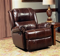 Aries Glider Recliner in Cocoa Leather by Parker House - MARI-812G-CC