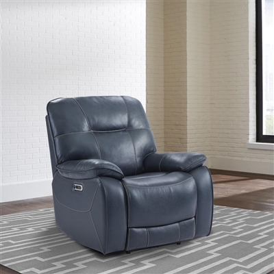 Axel Admiral Fabric Power Recliner by Parker House - MAXE#812PH-ADM