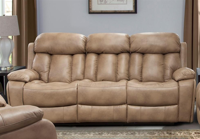 Baron Power Dual Reclining Sofa in Balsam Color Cover by Parker