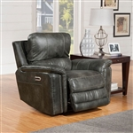 Belize Power Recliner with Power Headrest and USB Port in Ash Fabric by Parker House - MBEL#812PH-ASH