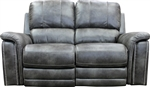 Belize Dual Power Reclining Loveseat with Power Headrest and USB Port in Ash Fabric by Parker House - MBEL#822PH-ASH