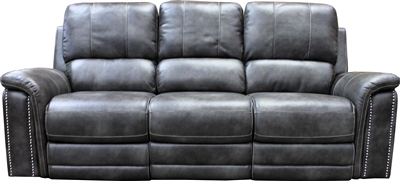 Belize Dual Power Reclining Sofa with Power Headrest and USB Port in Ash Fabric by Parker House - MBEL#832PH-ASH