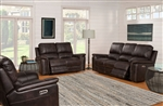 Belize 2 Piece Power Reclining Set with Power Headrests and USB Ports in Cafe Fabric by Parker House - MBEL-832PH-CAF-SET