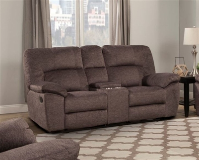 Blake Reclining Console Entertainment Loveseat in Sable Fabric by Parker House - MBLA-822-SAB