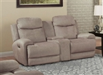 Bowie Power Reclining Entertainment Loveseat with Power Headrests and USB Ports in Doe Fabric by Parker House - MBOW-822CPH-DOE