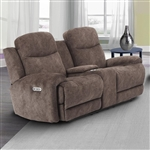 Bowie Power Reclining Entertainment Loveseat with Power Headrests and USB Ports in Range Fabric by Parker House - MBOW-822CPH-RNG