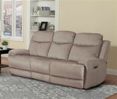 Bowie Power Reclining Sofa with Power Headrests and USB Ports in Doe Fabric by Parker House - MBOW-832PH-DOE