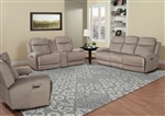 Bowie 2 Piece Power Reclining Set with Power Headrests and USB Ports in Doe Fabric by Parker House - MBOW-832PH-DOE-SET