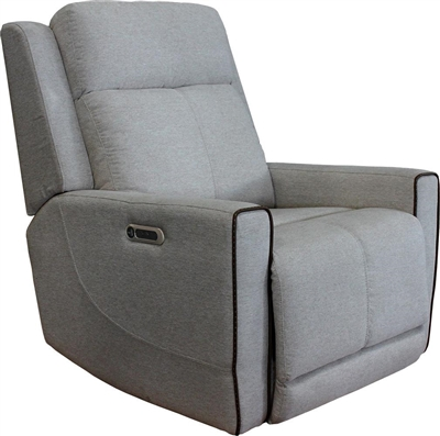 Cabo Power Recliner with Power Headrest and USB Port in Dove Fabric by Parker House - MCAB#812PH-DOV