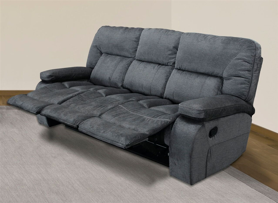 chapman manual triple reclining sofa in polo fabric by parker house rh homecinemacenter com triple recliner sofa cover triple reclining sofa with drop down table