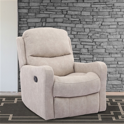 Caleste Glider Recliner in Stucco Polyester Fabric by Parker House - MCLS_812G-STU