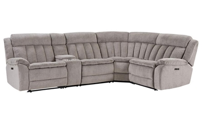 Cuddler 5 Piece Power Reclining Sectional in Laurel Dove Fabric by Parker House - MCUD-5