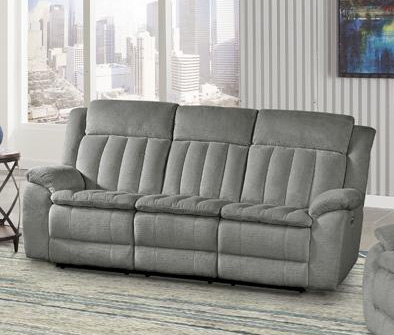Cuddler Power Sofa in Laurel Dove Fabric by Parker House - MCUD#832PH-LDO