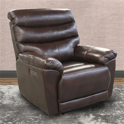 Duke Power Recliner with Power Headrest, Power Lumbar and USB in Raven Leather by Parker House - MDUK-812PHL-ROB