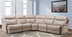 Dylan Creme 5 Piece Modular Reclining Sectional by Parker House - MDYL-05-CRE