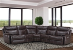 Dylan Mahogany 5 Piece Modular Reclining Sectional by Parker House - MDYL-05-MAH