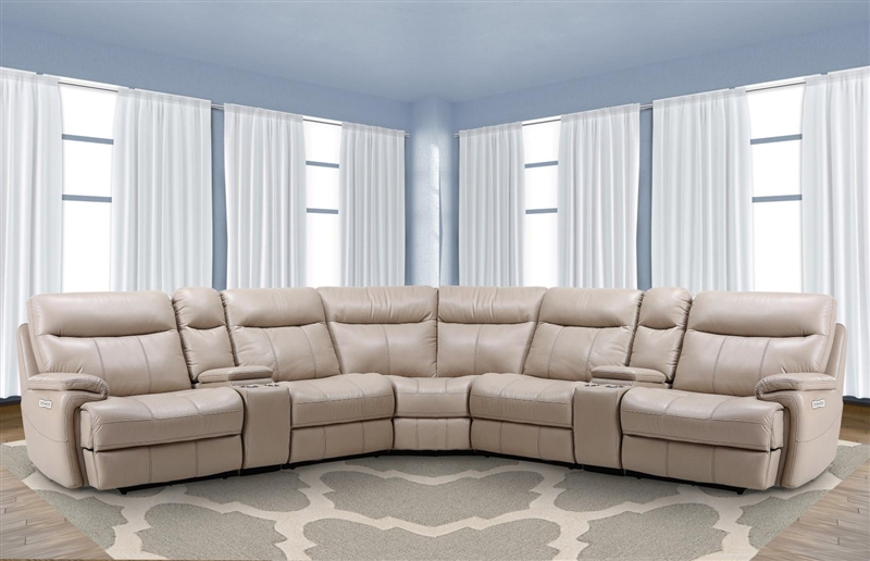 Dylan Creme 7 Piece Modular Reclining Sectional by Parker House