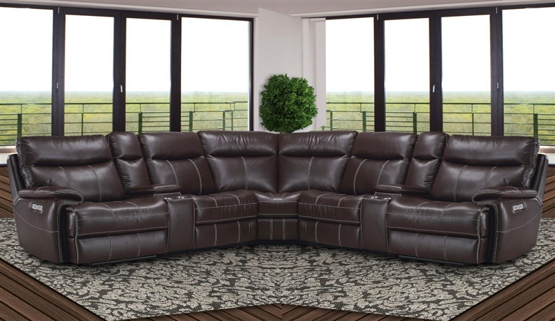Mahogany 7 Piece Modular Reclining Sectional by Parker House MDYL