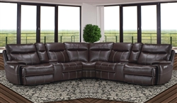 Dylan Mahogany 7 Piece Modular Reclining Sectional by Parker House - MDYL-7-MAH