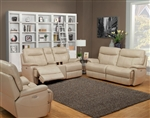 Dylan Creme 2 Piece Power Reclining Set with Power Headrests and USB Ports by Parker House - MDYL-832PH-CRE-SET