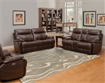 Dylan Mahogany 2 Piece Power Reclining Set with Power Headrests and USB Ports by Parker House - MDYL-832PH-MAH-SET