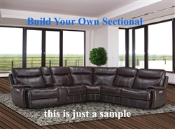 Dylan BUILD YOUR OWN Mahogany Reclining Sectional by Parker House - MDYL-MAH-BYO
