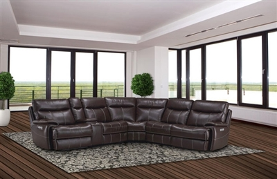 Dylan Mahogany 6 Piece Reclining Sectional by Parker House - MDYL-PACKA(H)-MAH