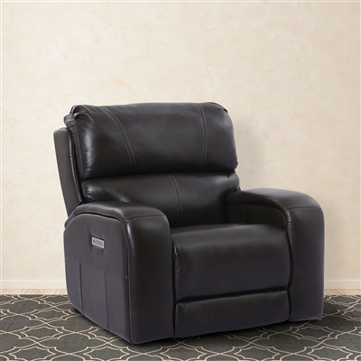 Earl Power Recliner with Power Headrest, Power Lumbar and USB in Raven Leather by Parker House - MEAR-812PHL-RAV