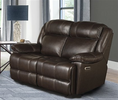 Eclipse Power Reclining Loveseat in Florence Brown Leather by Parker House - MECL#822PH-FBR