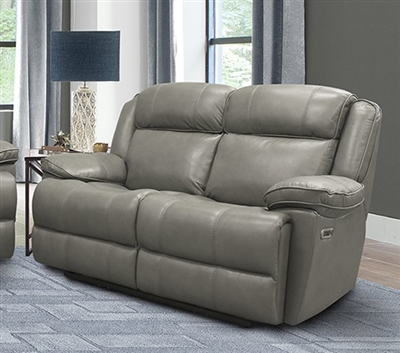Eclipse Power Reclining Loveseat in Florence Heron Leather by Parker House - MECL#822PH-FHE