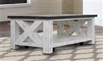 Mesa Occasional Tables in Antique White Two Tone Finish by Parker House - MES-01