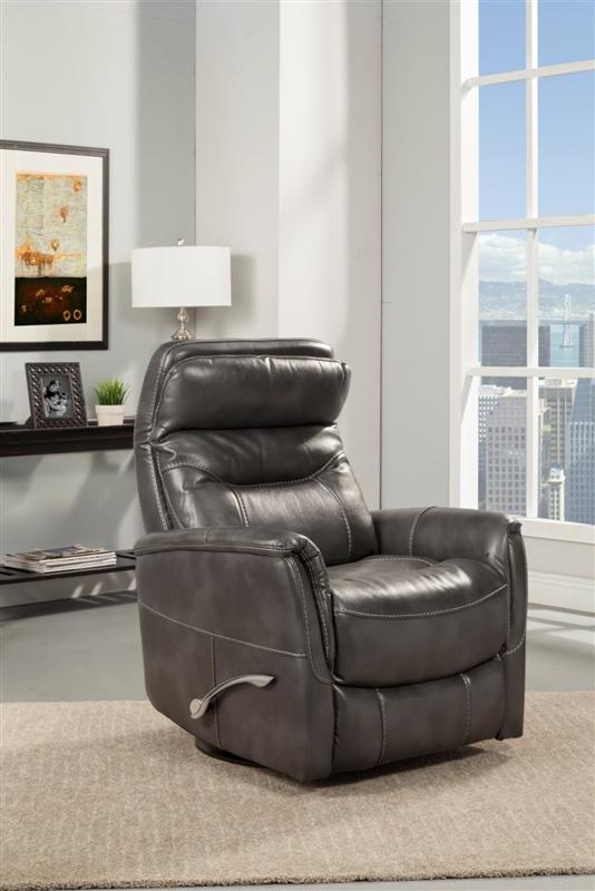 gemini anywhere swivel glider power recliner in truffle leatherette
