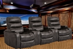 Genesis Flint Black Power Theater Seating by Parker House - MGEN-812P-FLI-3